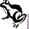 Vector Clip Art image  of a Frogs