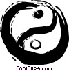 Vector Clip Art graphic  of a Yin & Yang