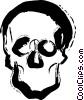 Vector Clipart image  of a Human Skulls