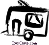 Vector Clip Art image  of a Camp Trailers