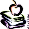 Vector Clipart graphic  of a Books and Projects