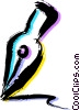 Vector Clip Art graphic  of a Fountain Pens