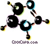 Vector Clip Art image  of a Molecules and Atoms