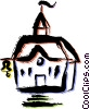 Vector Clipart graphic  of a School Buildings