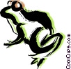 Vector Clipart picture  of a Frogs