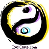 Yin & Yang Vector Clipart illustration