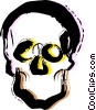 Vector Clipart picture  of a Human Skulls