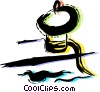 Vector Clip Art graphic  of a Rope