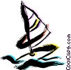 Windsurfing Vector Clipart illustration