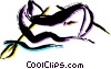 Vector Clip Art graphic  of a Rowboats