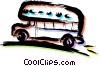 Tour Buses Vector Clipart graphic