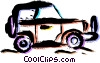 Vector Clipart image  of a Four-Wheel Drive Vehicles