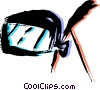 Vector Clipart graphic  of a Rear View Mirrors
