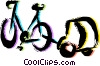 Bicycles Vector Clip Art graphic