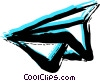 Vector Clip Art image  of a Paper Airplanes