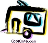 Camp Trailers Vector Clipart illustration