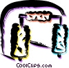Vector Clip Art graphic  of a Car Wash