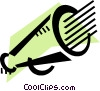 Vector Clip Art graphic  of a Megaphones