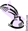 Vector Clip Art graphic  of a Feather Pens and Quills