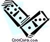 Vector Clip Art image  of a Dominos