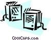 Vector Clip Art graphic  of a Speakers