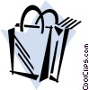 Vector Clipart graphic  of a Shopping Bags