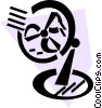 Vector Clipart illustration  of a Electric Fan