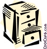 Filing Cabinets Vector Clipart picture