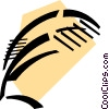 Vector Clipart graphic  of a Feather Pens and Quills