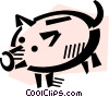 Vector Clip Art image  of a Piggy Banks