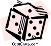 Vector Clipart illustration  of a Dice