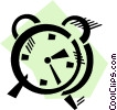 Vector Clip Art picture  of an Alarm Clocks
