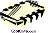 Vector Clip Art graphic  of a Chips and Processors