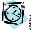 Vector Clipart image  of a Wall Clocks