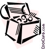 Treasure Chests Vector Clip Art image