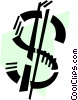 Vector Clipart graphic  of a Currency Symbols