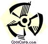 Radioactive Symbols Vector Clipart picture