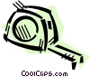 Vector Clipart graphic  of a Tape Measure
