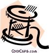 Spools of Thread Vector Clipart illustration