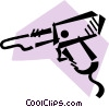 Vector Clip Art image  of a Soldering Guns