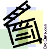 Vector Clipart image  of a Clapper Boards