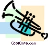 Vector Clipart graphic  of a Trumpets