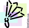 Vector Clipart graphic  of a Hand Fan
