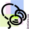 Vector Clip Art image  of a Headphones