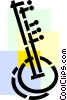 Vector Clipart image  of a Sitars