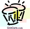 Vector Clip Art graphic  of a Bongos