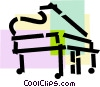 Vector Clip Art graphic  of a Pianos