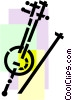 Vector Clip Art graphic  of a Stringed Instruments