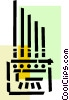 Vector Clipart illustration  of a Church Organs
