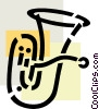 Vector Clip Art picture  of a Tubas